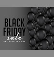 modern black friday balloons composition vector image