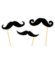 mustaches on plastic stick vector image