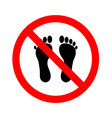 No Bare Feet vector image