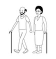 old couple avatar vector image