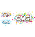 Omg colour backgrounds vector image vector image
