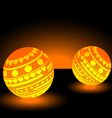 Orange light balls background EPS 10 vector image