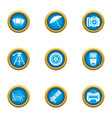 photo print icons set flat style vector image vector image
