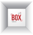 Photorealistic White Open Box Template Top View vector image vector image