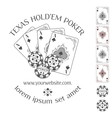 Poker emblem with place for your text vector image vector image