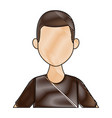 portrait of a young man character on white vector image vector image