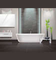 realistic bathroom interior vector image