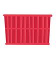 red cargo container cartoon vector image vector image