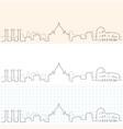 rome hand drawn skyline vector image vector image