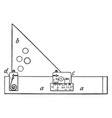 section liner a draftsmans tool one handy volume vector image vector image