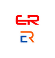 set of initial letter er logo template design vector image