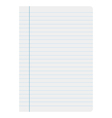 sheet of paper lines vector image vector image