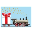 steam locomotive with gifts vector image