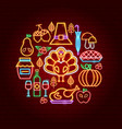 thanksgiving day neon concept vector image