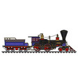 the vintage american steam locomotive vector image vector image