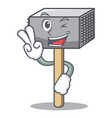 two finger hammer cartoon for tenderizer the meat vector image