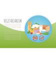 vegetarianism healthy green food banner vector image