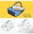 Virtual reality VR vector image vector image
