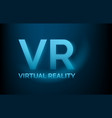 vr virtual reality banner technology concept low vector image