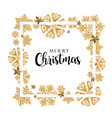 white and golden merry christmas banner background vector image vector image
