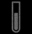 white pixelated test tube icon vector image vector image