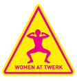women at twerk sign vector image vector image