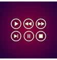 Media player buttons collection design vector image