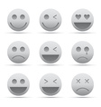 emotion icon set vector image
