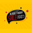 abstract black friday sale chat bubble poster vector image
