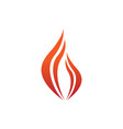 abstract flame fire swoosh symbol design vector image vector image