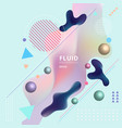 abstract template colorful fluid shapes and vector image