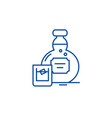 alcohol line icon concept alcohol flat vector image vector image