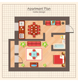 Apartment Plan vector image vector image