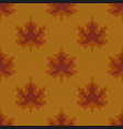 autumn seamless pattern maple leaves knitted vector image