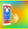Back to school smartphone yellow apple vibrant