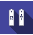 Battery with recycle - renewable energy concept vector image vector image