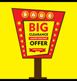 big clearance offer limited time sale hoarding st vector image vector image