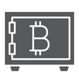 bitcoin storage glyph icon security and money vector image vector image
