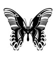 butterfly black white silhouette design vector image