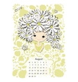 Calendar 2016 august month Season girls design vector image
