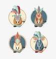 carnival horses vintage icon vector image vector image