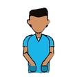 cartoon man hands pocket hospital practice healthy vector image vector image