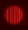 closed red curtain theatrical drapes stage vector image vector image