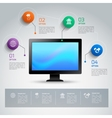 Computer infographic template vector image