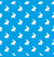 easter bunny pattern seamless blue vector image vector image