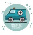 emergency ambulance icon vector image