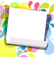 Empty Paper Sheet on Retro Background vector image vector image