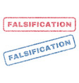 falsification textile stamps vector image vector image