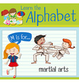 Flashcard letter M is for martial arts vector image vector image