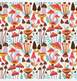 forest mushrooms seamless pattern vector image vector image